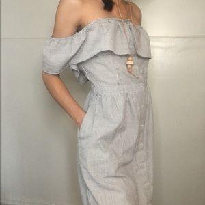 Maxi striped blue/white maxi dress
